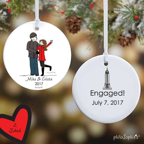 Empire State Building Engagement Ornament - philoSophie's®
