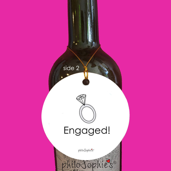Perfect Pairing Engagement Wine Tag/Ornament