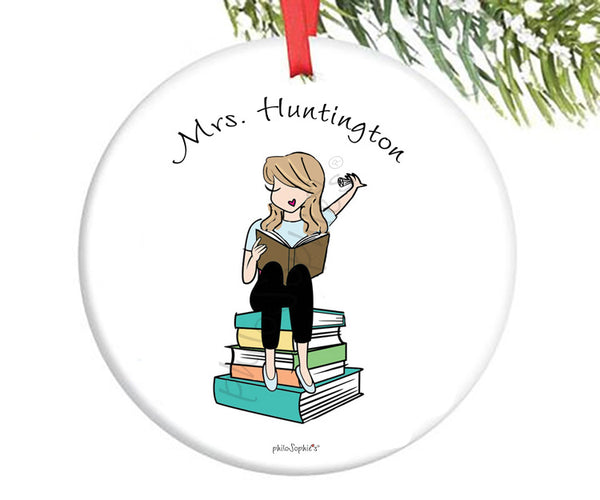 Teacher Newly Married/Engaged Custom Ornament