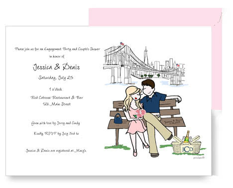 Personalized Engagement/ Couples Shower Invitation - philoSophie's®