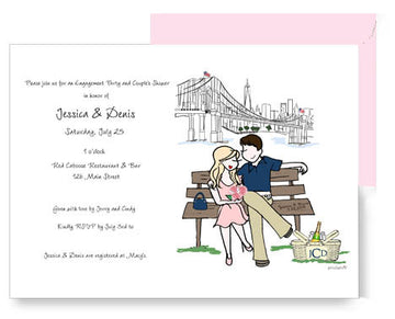 Personalized Engagement/ Couples Shower Invitation