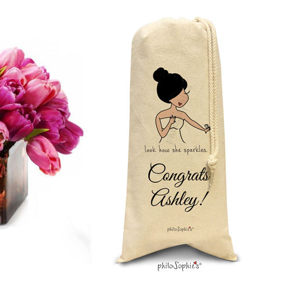 Personalized Engagement, Bride to Be Wine,Champagne Tote