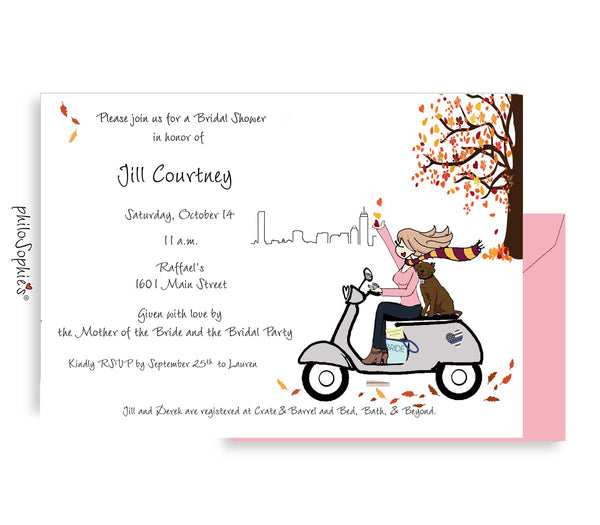 Fall in Love -  Bridal Shower Invitation