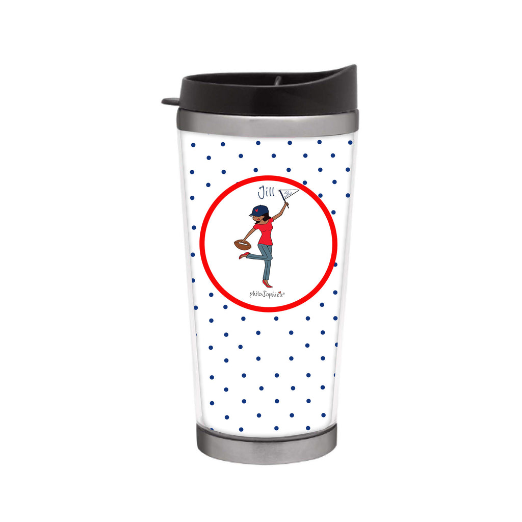# 1 Fan Touchdown Travel Coffee Tumbler - philoSophie's®