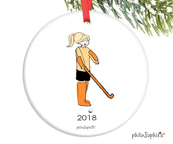 Field Hockey Goalie Ornament - personalized philoSophie's - philoSophie's®