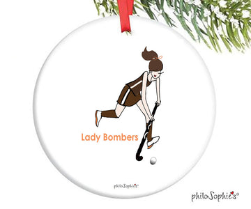 Field Hockey Ornament - personalized philoSophie's