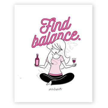Find Balance - Wine  Wall Art