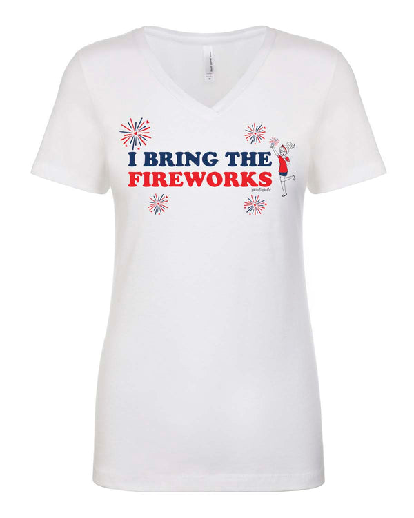 I bring the fireworks - V-Neck T-shirt