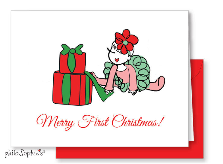 Merry 1st Christmas  Greeting Card - philoSophie's®