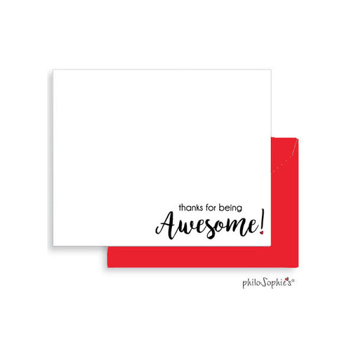 Thanks for being awesome! - Flat Notes with Envelopes