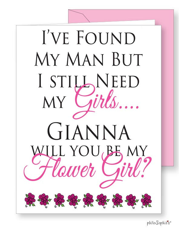 Will you be my flower girl? greeting card - philoSophie's®