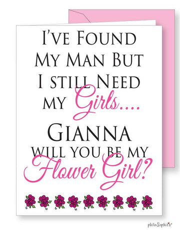 Will you be my flower girl? greeting card