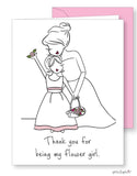 Thank you for being my flower girl Greeting Card