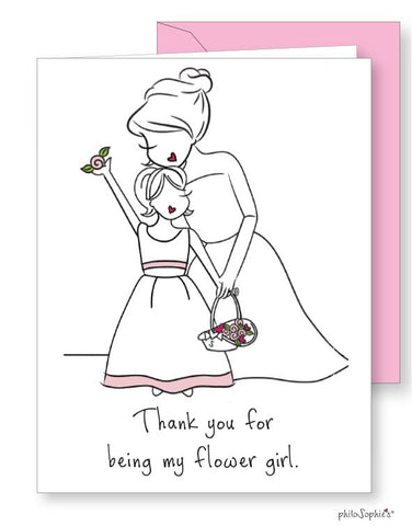 Thank you for being my flower girl Greeting Card - philoSophie's®