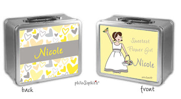Personalized Flower Girl Lunch Box