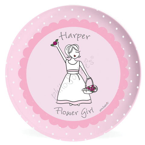 Personalized Flower Girl Plate