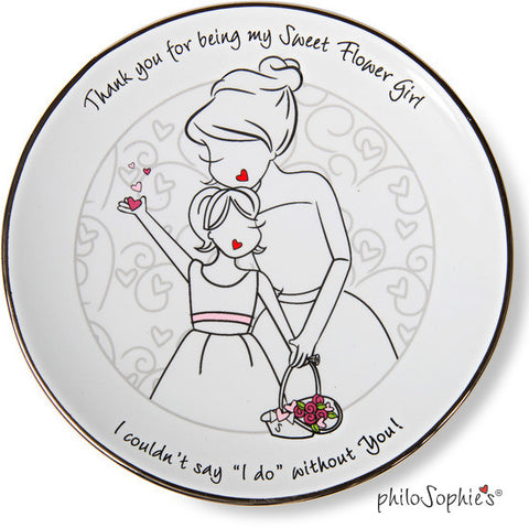 Thank You Flower Girl Plate - philoSophie's®