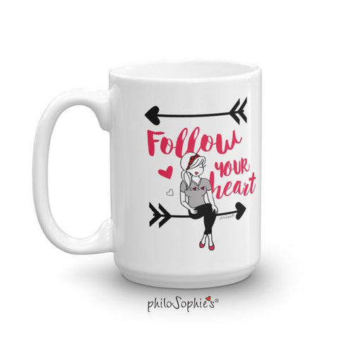 Follow Your Heart Valentine Mug - philoSophie's®