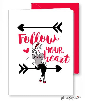 Follow Your Heart - Valentine Greeting Card - philoSophie's®