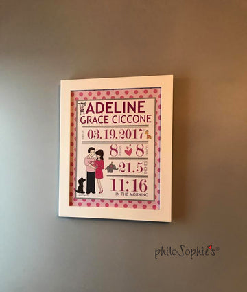 Custom Baby philoSophie❤️s® Announcement Art