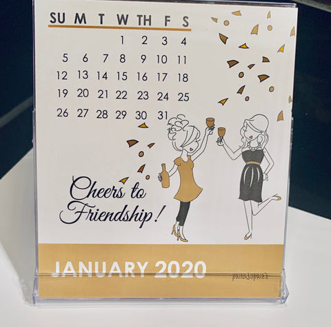 2020 Friendship philoSophie's 12 month calendar