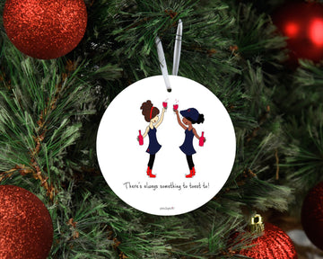 Friendship Fans Team Toast  Ornament personalized