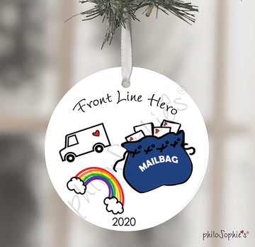 Essential Mail Carrier Christmas Ornament Gift, Quarantined Gift 2020