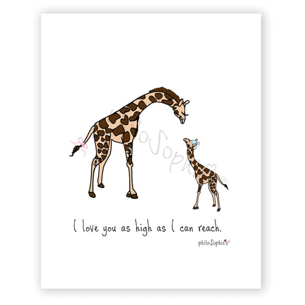 I love you as high as I can reach -  Baby Wall Art