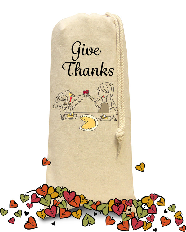 Thanksgiving - Give Thanks /Wine & Spirits Tote - philoSophie's®