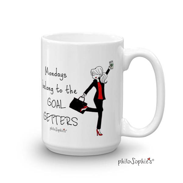Mondays belong to the GOAL GETTERS -personalized mug - philoSophie's®