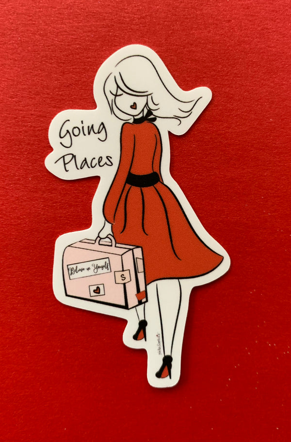 Going Places Vinyl Sticker