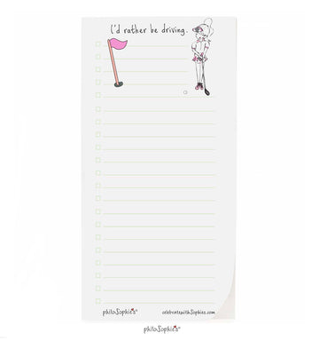 I'd rather be golfing notepad