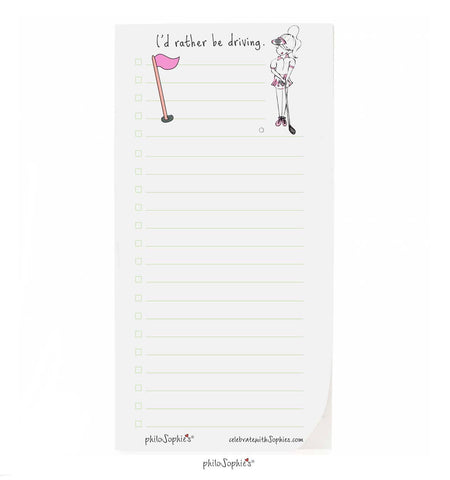 I'd rather be golfing notepad - philoSophie's®