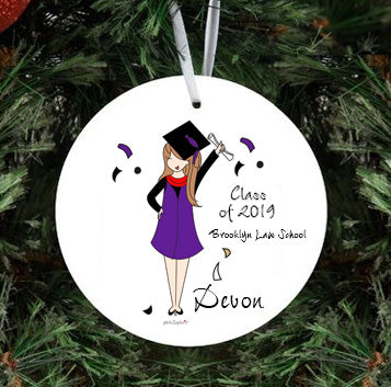Class of 2019 Grad Ornament personalized