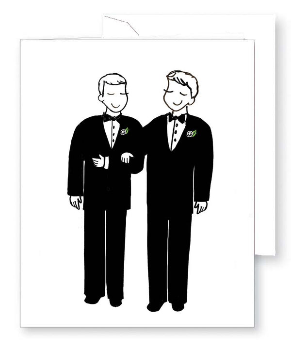 Happy Couple - Grooms Greeting Card
