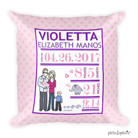 Growing Family Baby Announcement Pillow - philoSophie's®