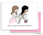 Will you be my bridesmaid? Greeting Card Hair Down - philoSophie's®