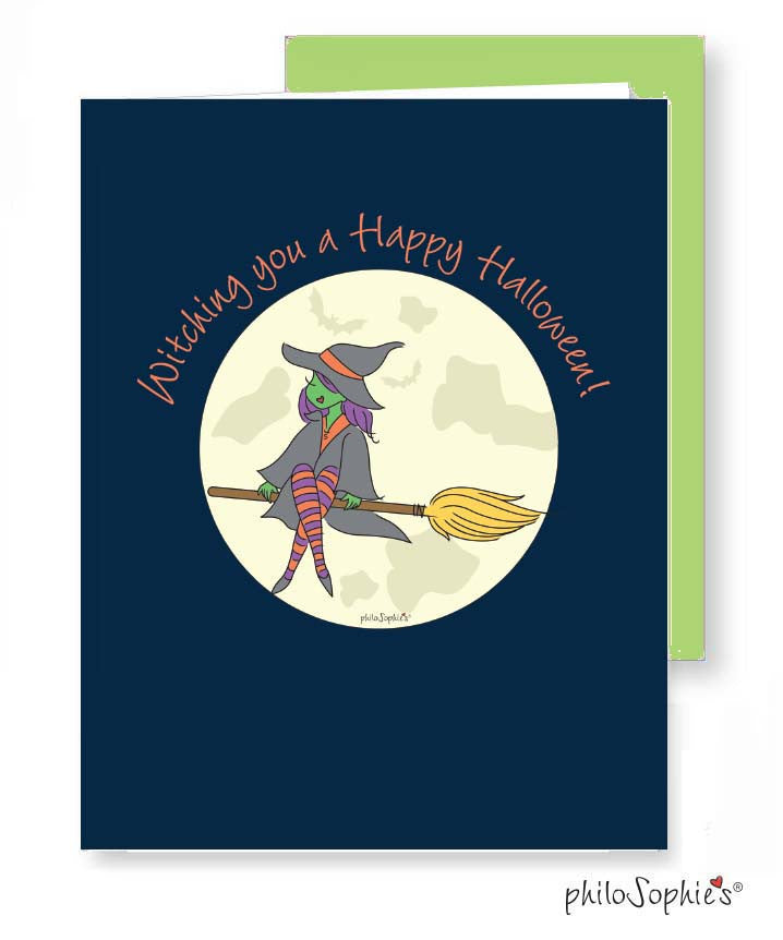 Witching You A Happy Halloween Greeting Card - philoSophie's®