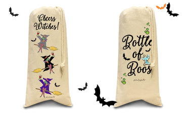 Pair of Halloween Wine Totes