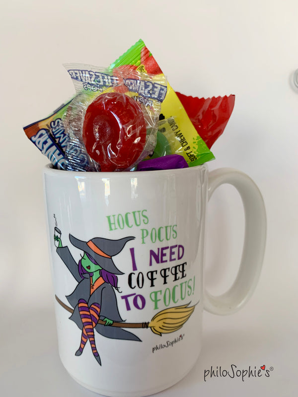 Halloween Mug & Greeting Card - Hocus Pocus Gift Set