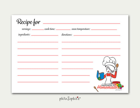 Happiness is Homemade Recipe Cards