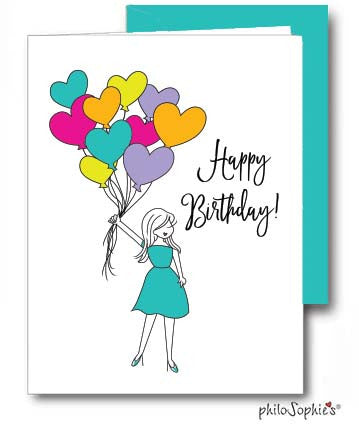 Happy Birthday Balloons - Birthday Greeting Card - philoSophie's®