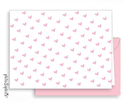 Lots of Love - Small Folded Valentine Note