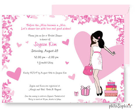 Personalized Bridal Shower - Hearts
