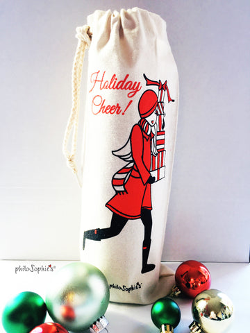 Holiday Cheer Wine Tote