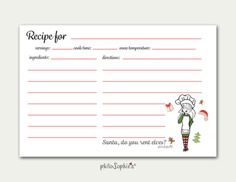 Holiday Cookie Recipe Cards - philoSophie's®