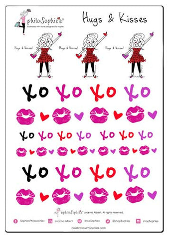 Hugs and Kisses philoSophie's Sticker Sampler