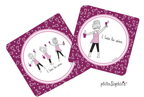 I love to wine - Wine Coaster Set - philoSophie's®