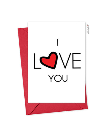 I Love You philoSophie's Folded Greeting Card
