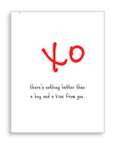 XO - Valentine Greeting Card